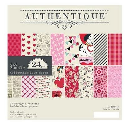 """Authentique Double-Sided Cardstock Pad 6""""X6""""  Love Notes"""