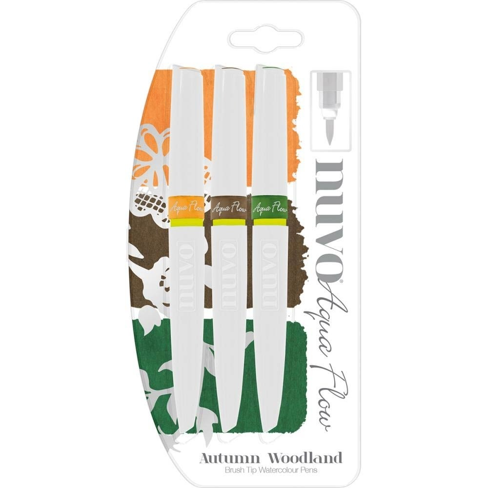 Nuvo Aqua Flow Pens - autumn woodland