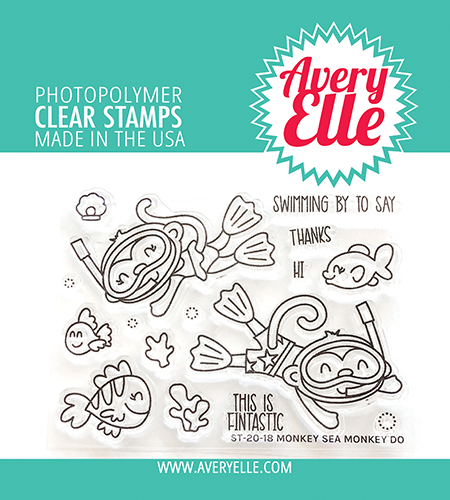 Avery Elle Monkey Sea Money Do Clear Stamps