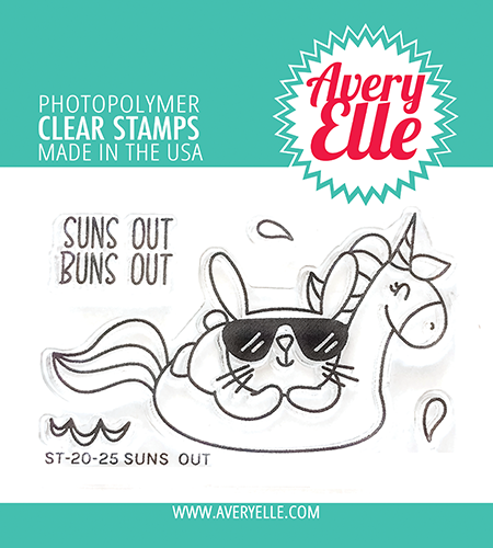 Avery Elle Suns Out Clear Stamps