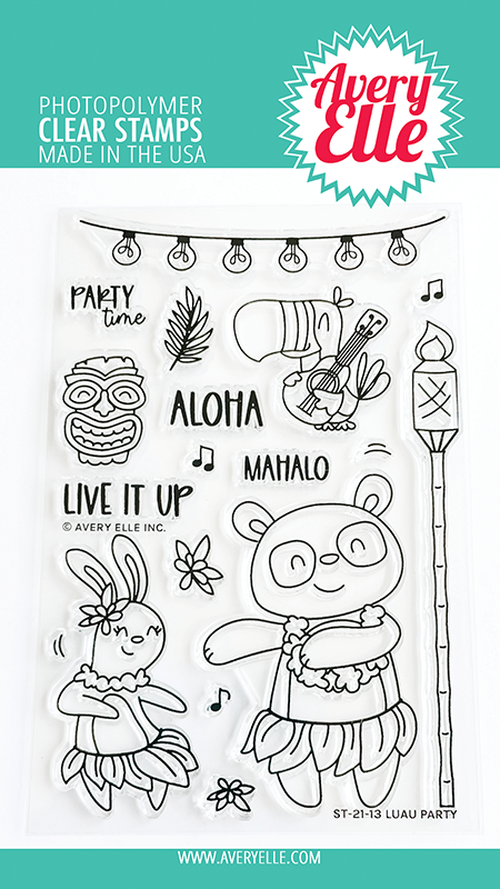 Avery Elle Luau Party Clear Stamps ST2113