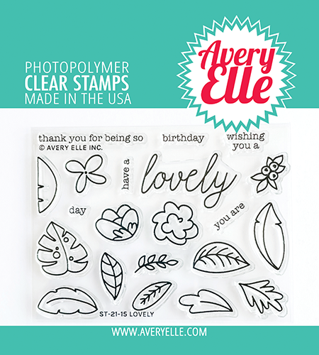 Avery Elle Lovely Clear Stamps D2115