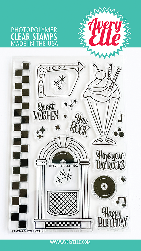 Avery Elle You Rock Clear Stamps ST2124