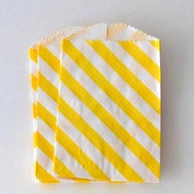 mini bags - yellow diagonal stripe