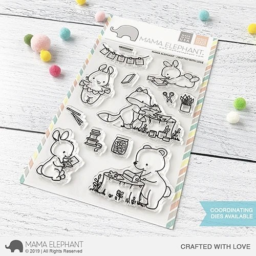 SALE - Mama Elephant Baked with Love stamp set and die