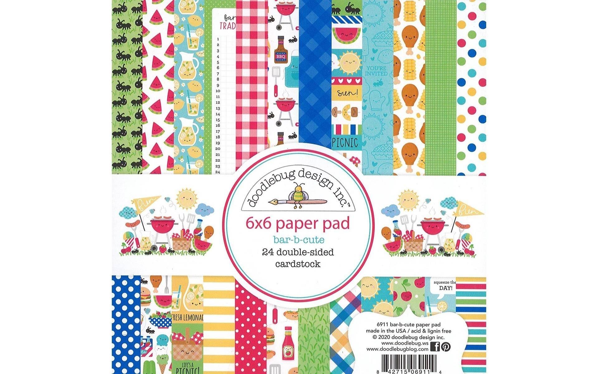 Doodlebug Design Bar B Cute Paper Pad
