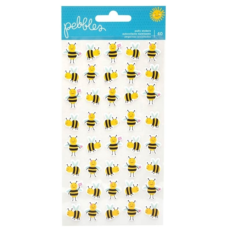 Pebbles Inc.Bees Puffy Stickers Oh Summertime