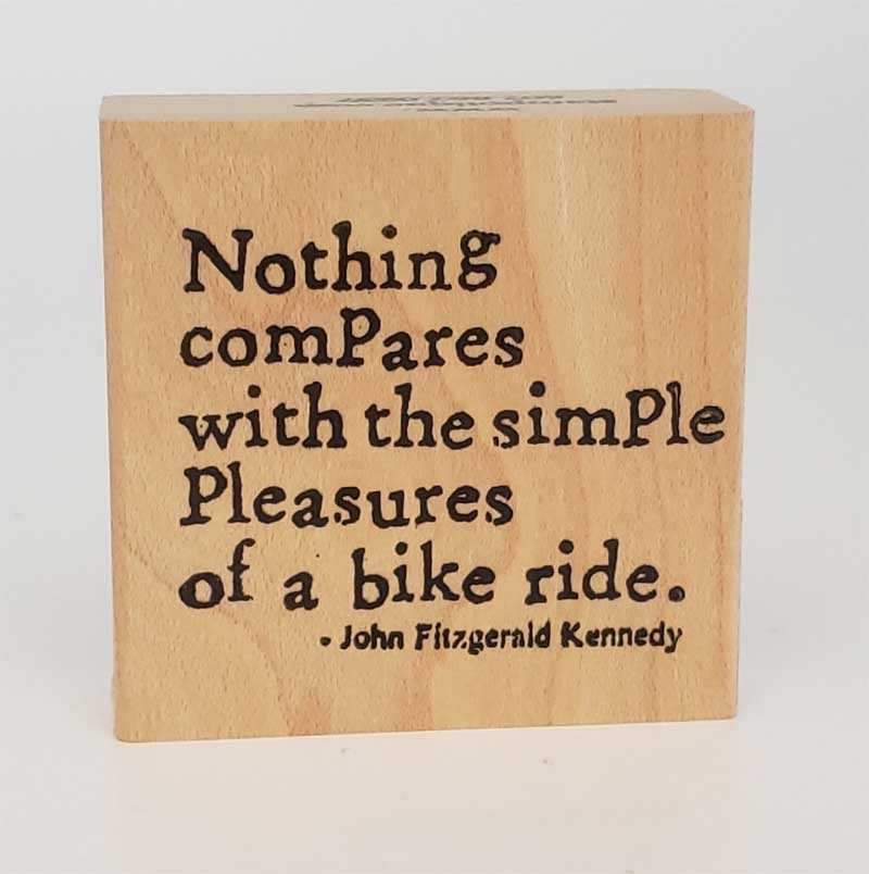 Bike Ride Rubber Stamp