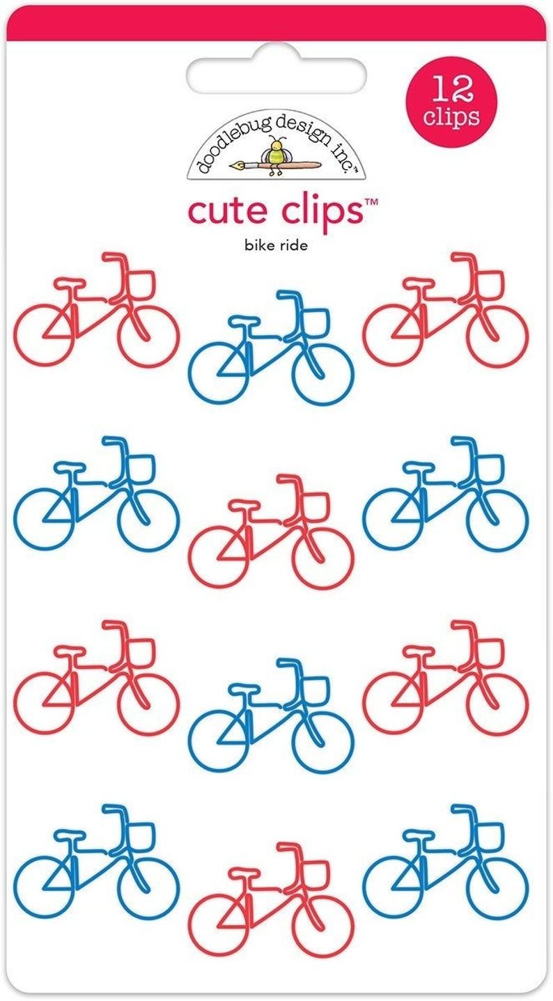 Doodlebug Cute Clips - bike ride