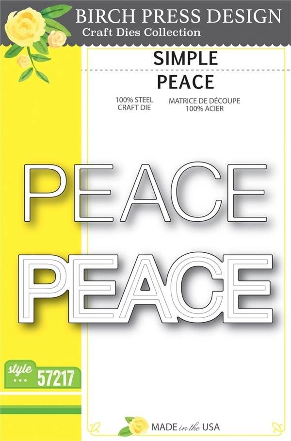 SALE - Birch Press Simple Peace Die 57217