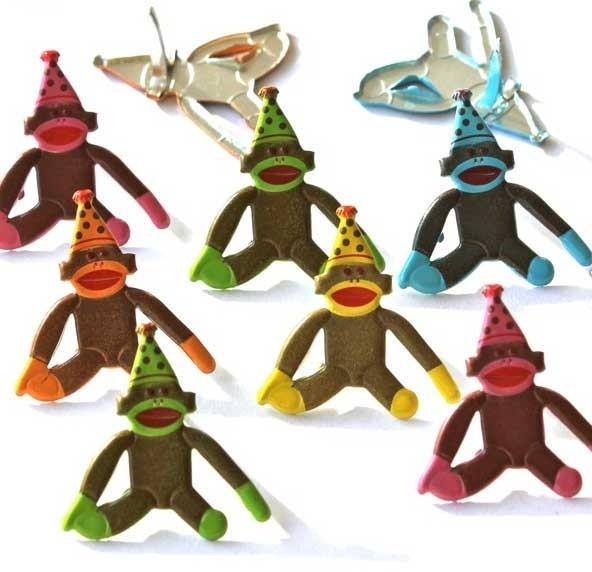 Birthday Monkey Brads