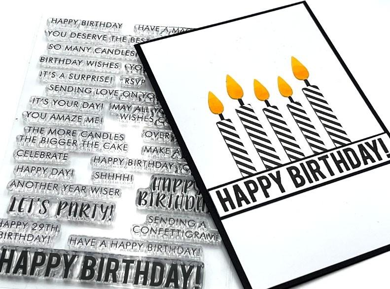 Impress Birthday Words Clear Set