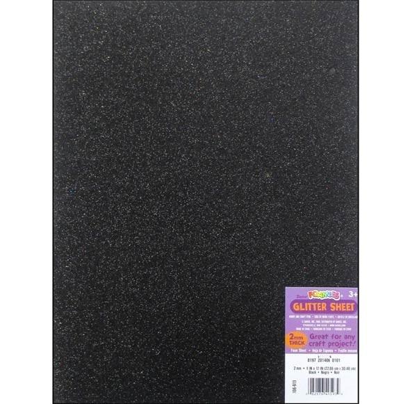 Black Glittered Foam