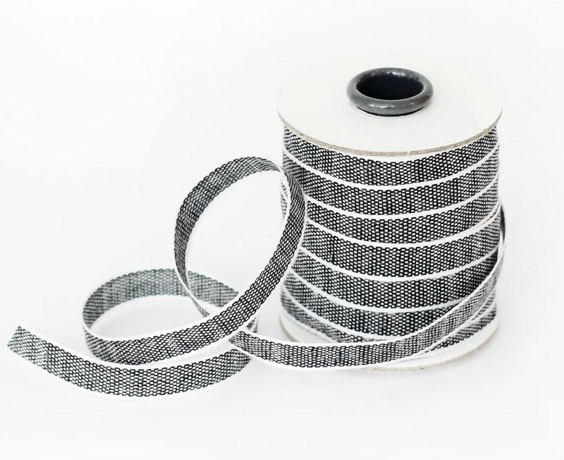 Black and White Cotton Ribbon
