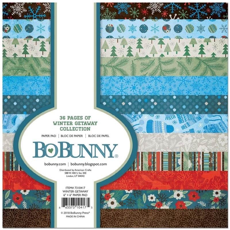 BoBunny Winter Getaway 6x6 Paper Collection