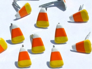 Mini Candy Corn Brads