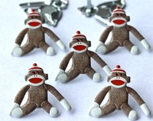 Sock Monkey Brads