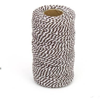 Brown and White Chunky Twine Bolt