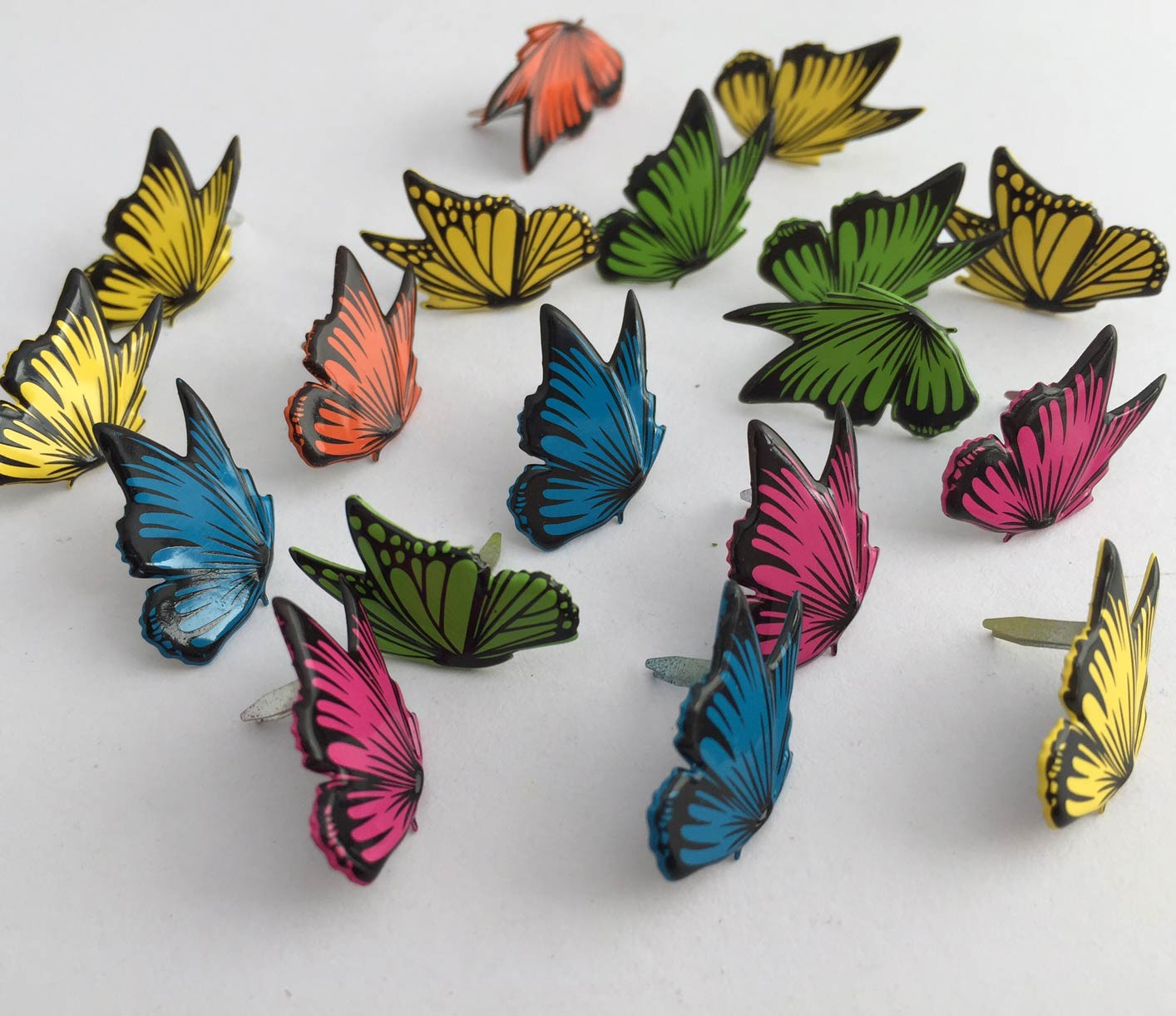 Beautifully Detailed Butterfly Brads