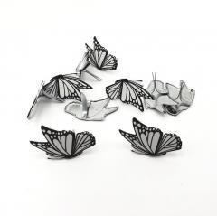 Black & White Butterfly Brads