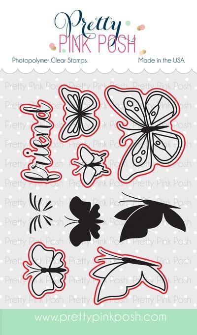 Pretty Pink Posh Butterfly Friends Die