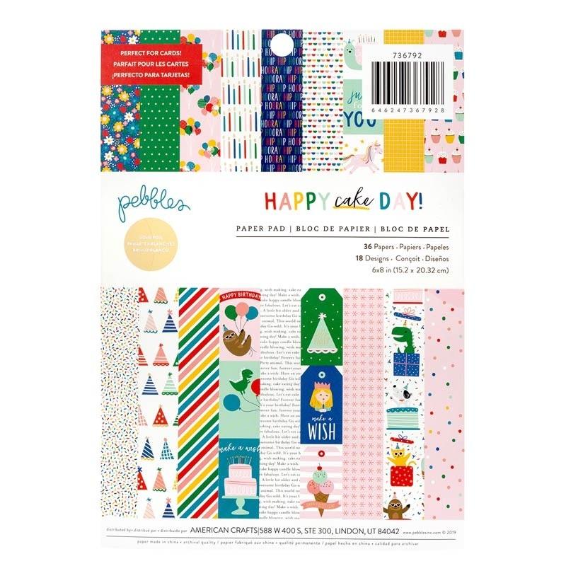 Pebbles Happy Cake Day! Paper Pad