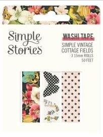Simple Stories Simple Vintage Cottage Fields Washi Tape 3/Pk