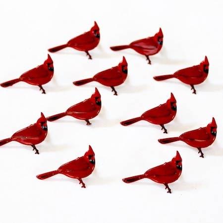 Red Cardinal Brads