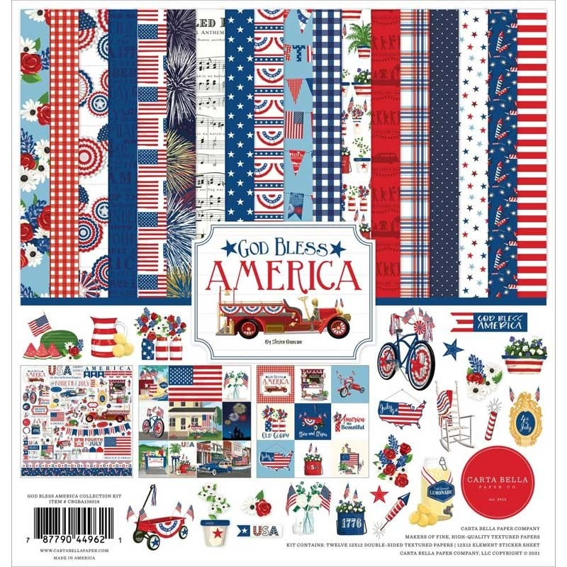 Carta Bella God Bless America 6x6 Paper Pad