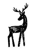 5478c - chalk reindeer