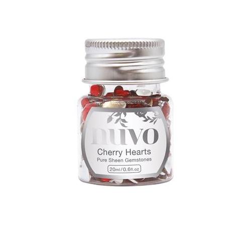 Nuvo Cherry Heart Rhinestones