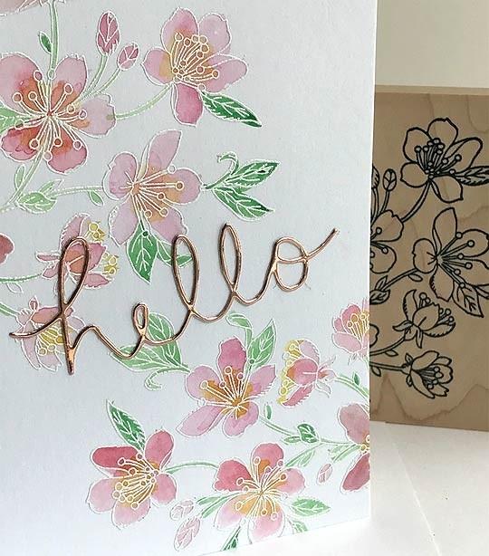5700k - cherry blossoms rubber stamp