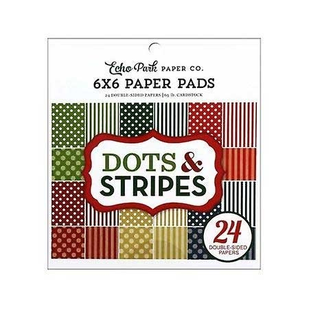 Echo Park Christmas Dots and Stripes 6x6 Pad