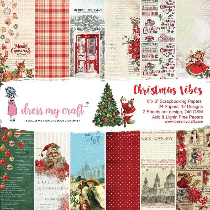 Dress up My Craft Christmas Vibes 6x6 Paper Pad