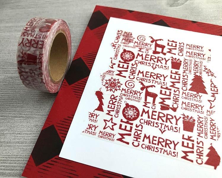 Christmas Word Washi Tape