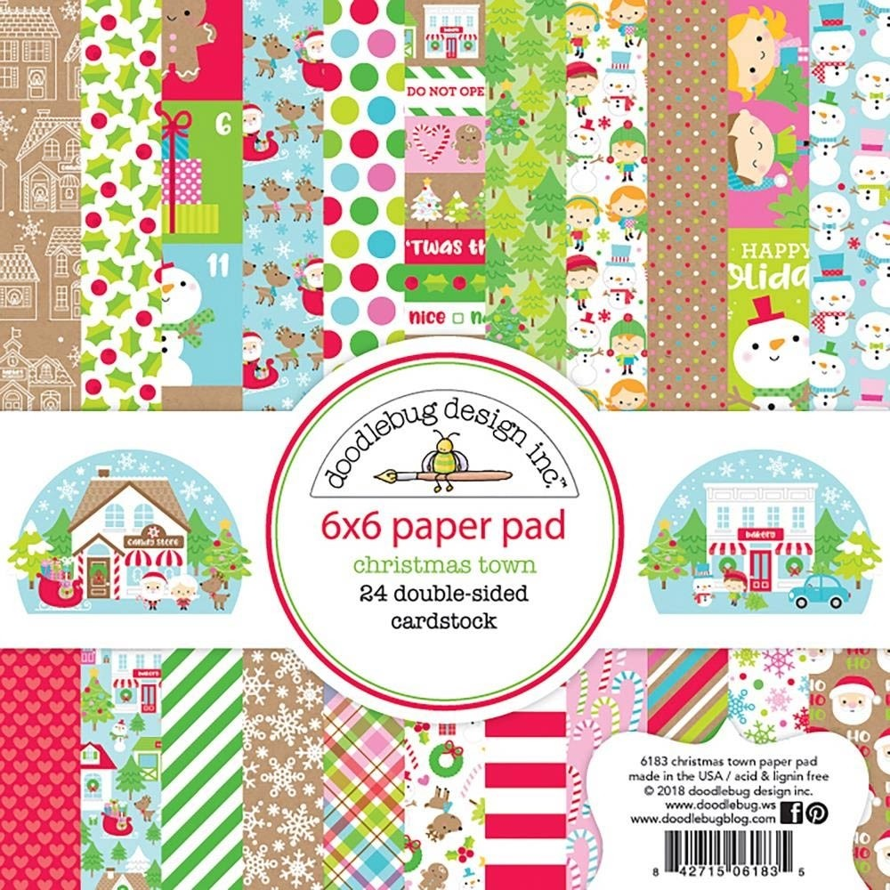Doodlebug Christmas Town Paper Pack 6x6