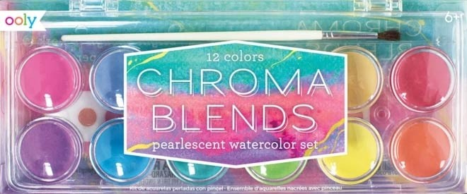 NEW - Chroma blends watercolor paint set - pearlescent