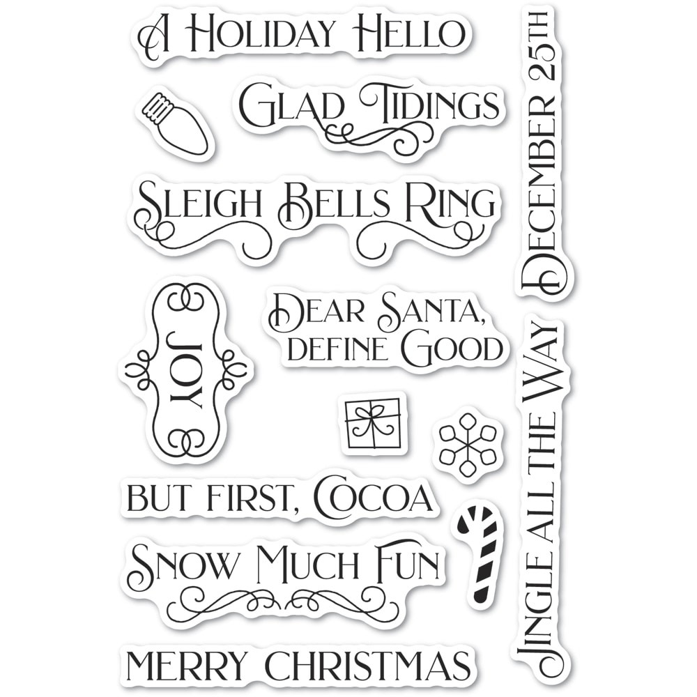 Poppystamps Christmas Fun Clear Stamp Set cl494