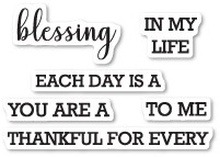 Memory Box Each Day Is A Blessing Clear Stamp Set Cl5214