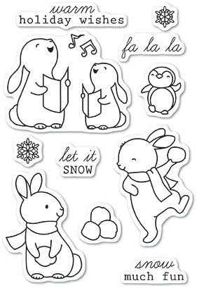 Memory Box Snow Much Fun clear stamp set 5224