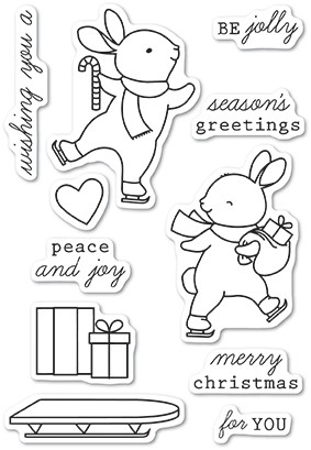 Memory Box Be Jolly clear stamp set cl5226
