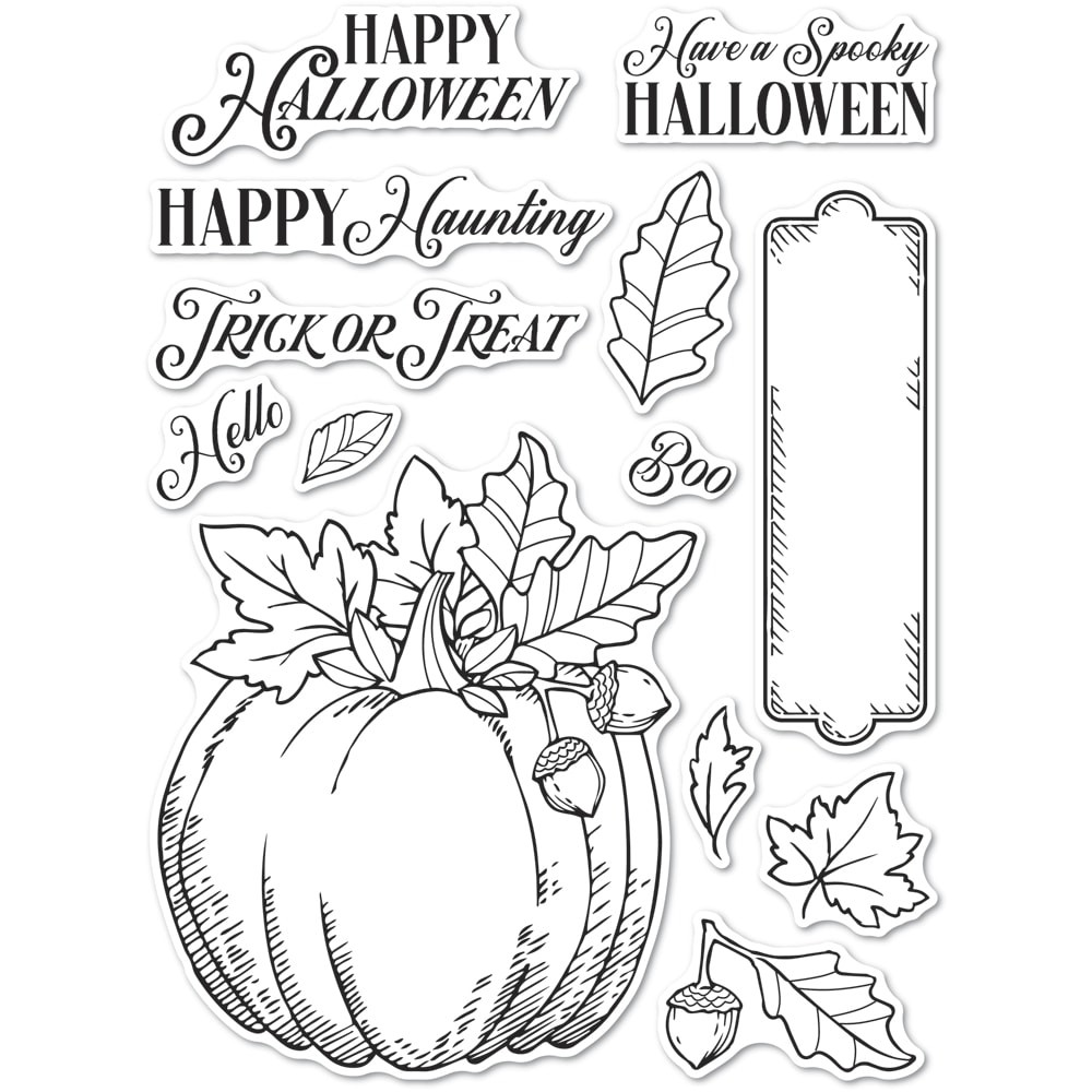 CL5264 Halloween Pumpkin clear stamp set