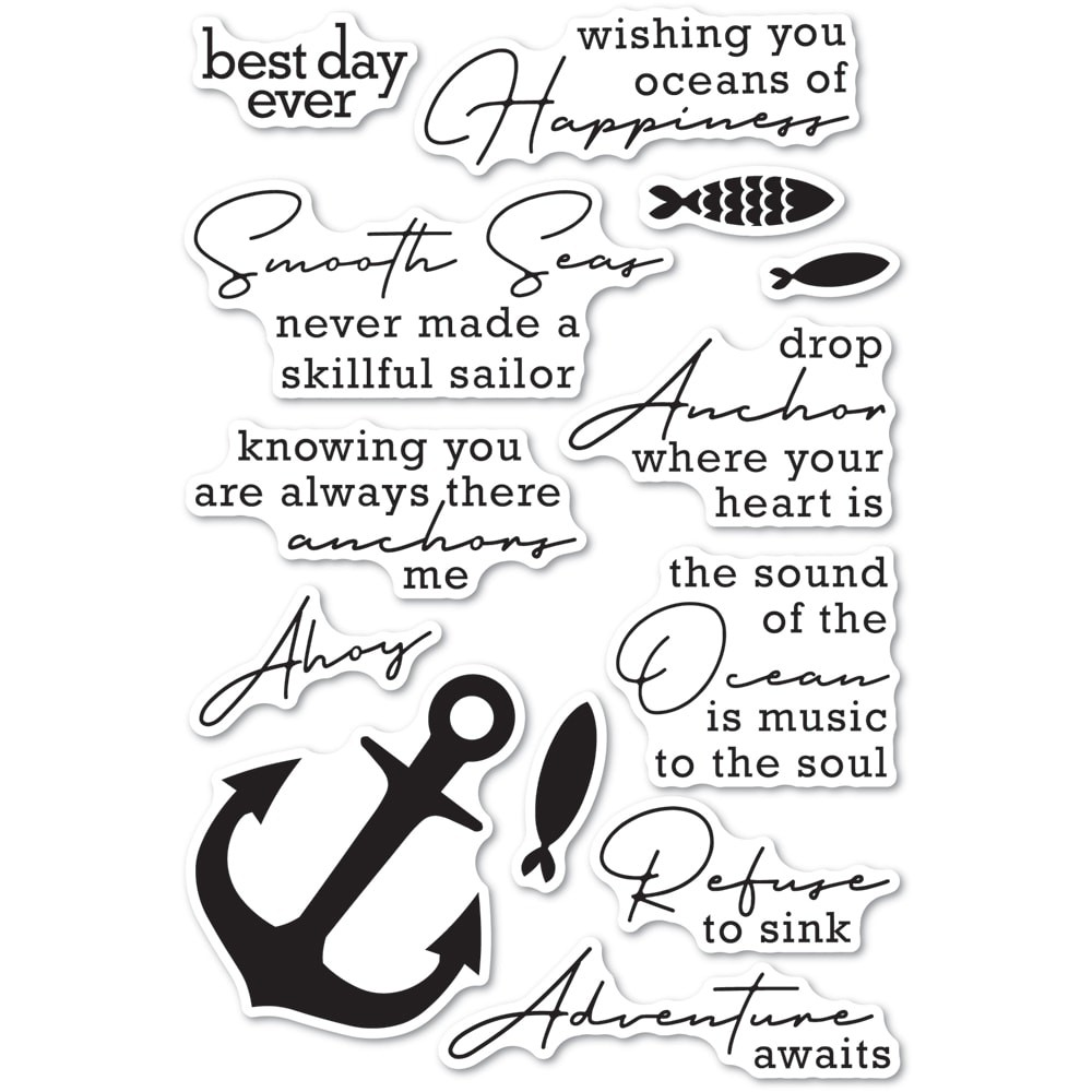 Memory Box You Anchor Me Clear Set cl5269