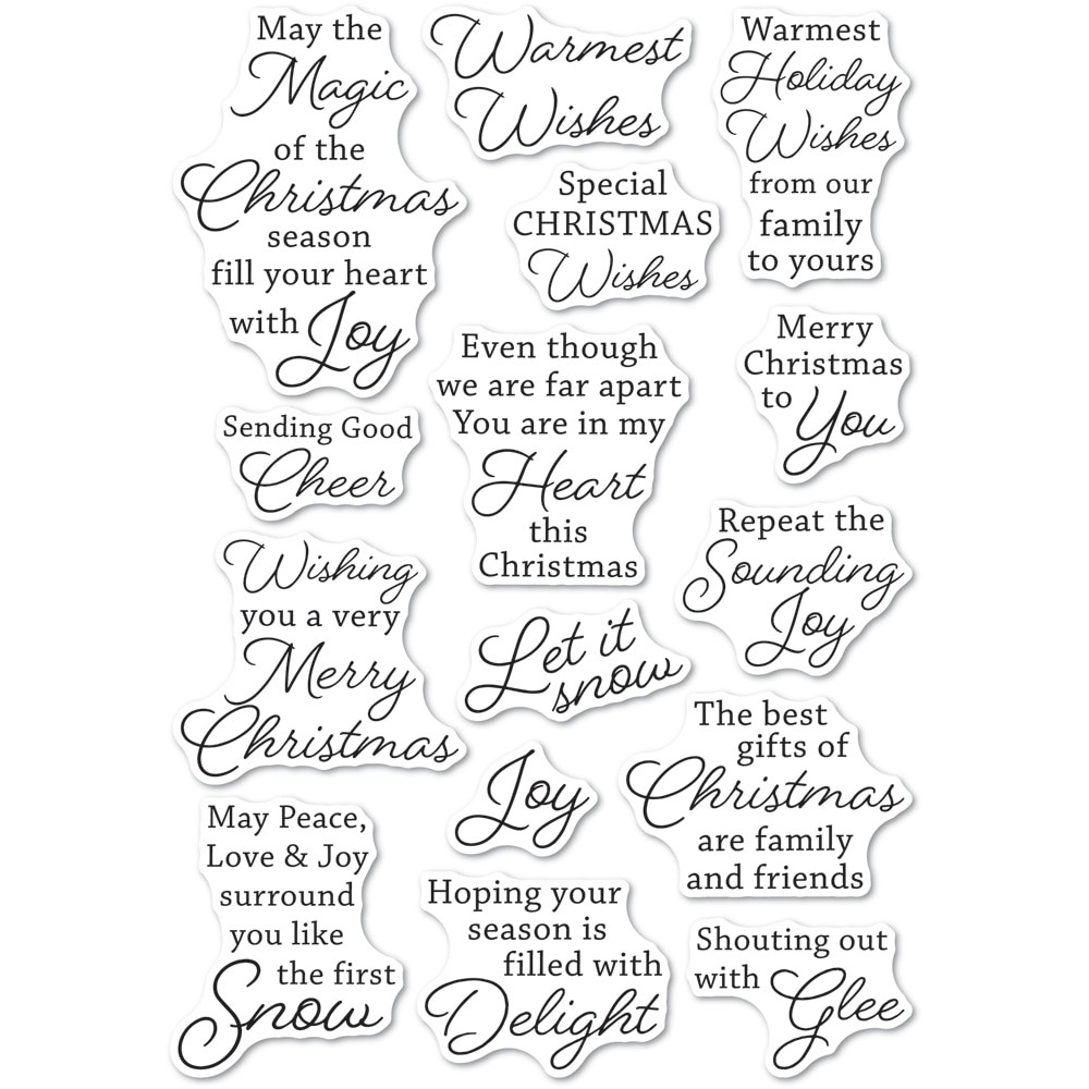 Memory Box Yuletide Moments clear stamp set CL5274