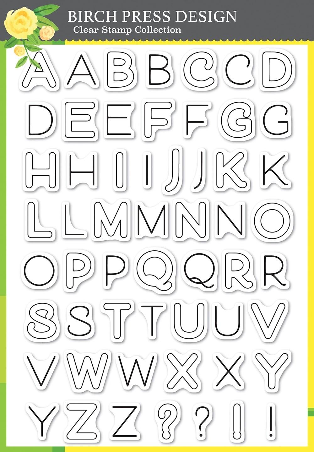 Birch Press Mod Alphabet clear stamp
