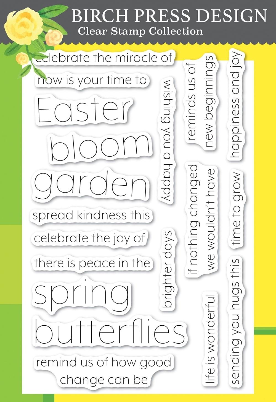 Birch Press Springtime Fun clear stamp set cl8152