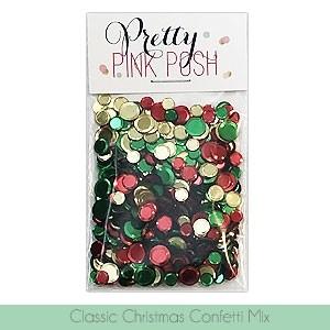Pretty Pink Posh Classic Christmas Confetti Mix