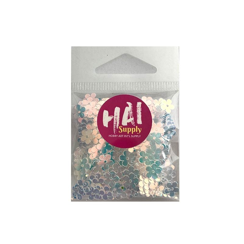 Clear Flower Sequins