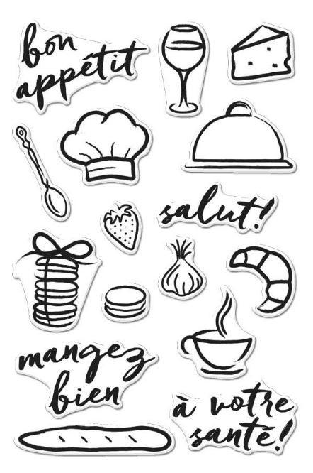 Hero Arts Bon Appetit stamp set