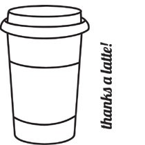 5375 - Coffee Cup Stamp with words on side